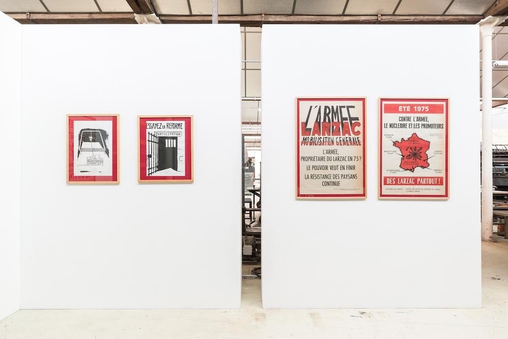 vue de l'exposition Six cents mois après, URDLA, Villeurbanne. PhotoJules Roeser©