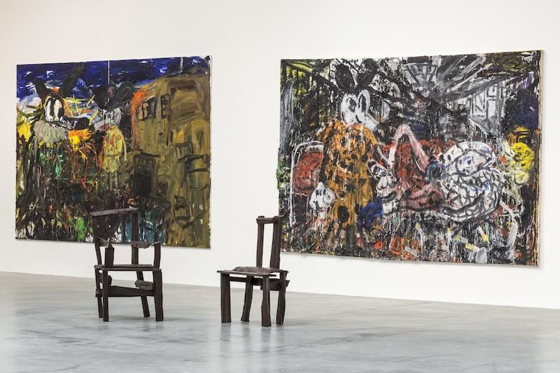 Vue de l'exposition de Armen Eloyan au Frac des Pays de la Loire. Cliché Fanny Trichet.