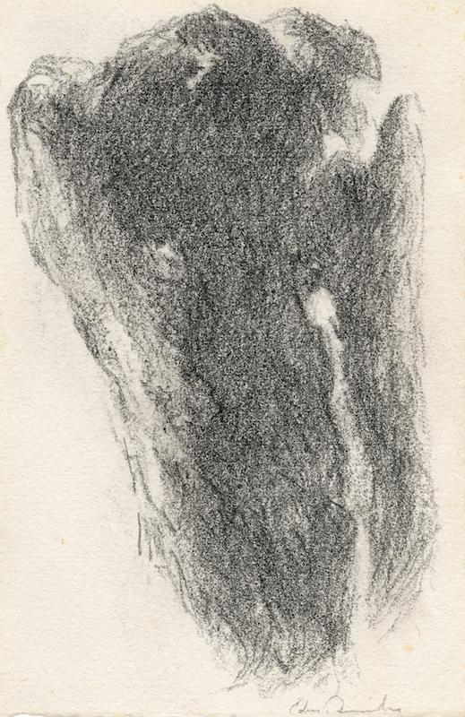 Edmond Quinche, L'Enlèvement, crayon lithographique © Le Cahier dessiné n°10 2015