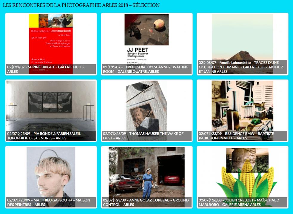Sélection d'expositions rencontres de la photographie arles 2018