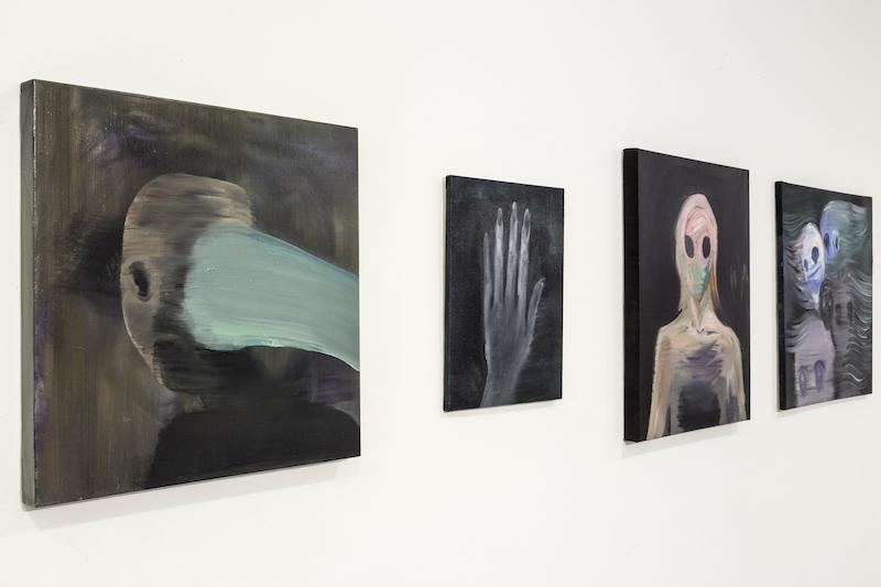 Vue de l'exposition de Makiko Furuichi, KAKI Kukeko au Frac des Pays de la Loire. Cliché Fanny Trichet