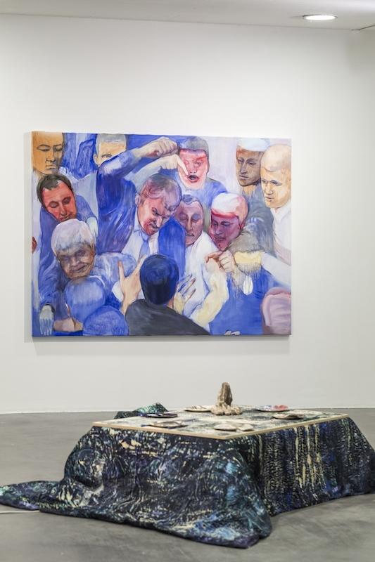 Vue de l'exposition de Makiko Furuichi, KAKI Kukeko au Frac des Pays de la Loire. Cliché Fanny Trichet.