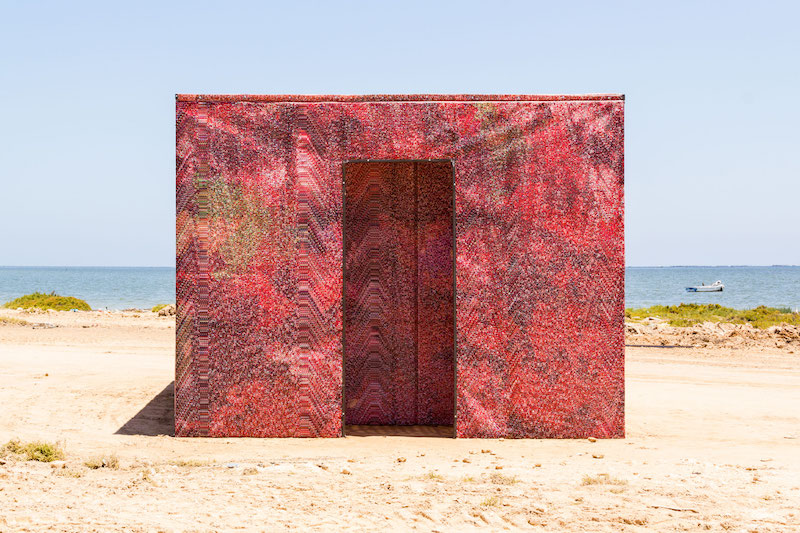 Mathieu Merlet Briand, #Red Screen Temple, Kerkennah01 Tunisie