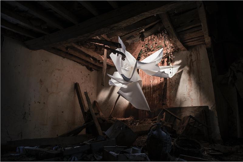 Miguel Loyola, Expérimentation du vide/ Mourocq de Bas, installation, 2018