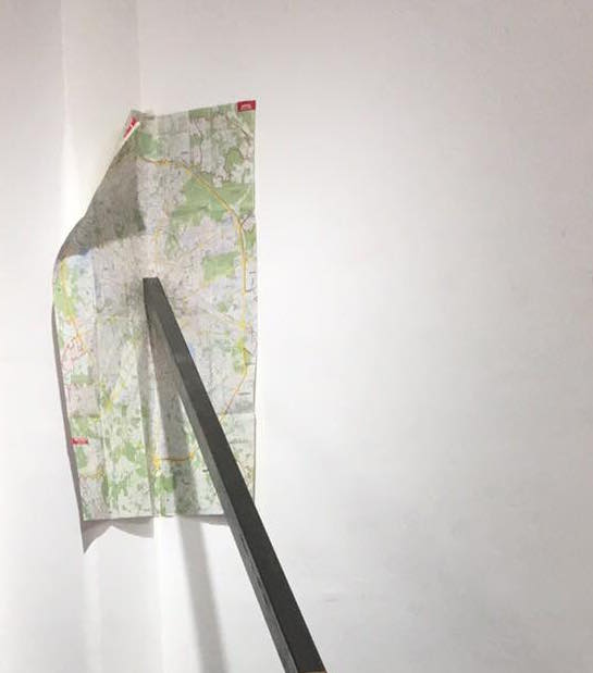 Ekaterina Vasilyeva (alias Katya Ev) Axe de révolution - zero, 2018 Moscow map, steel 6 meters