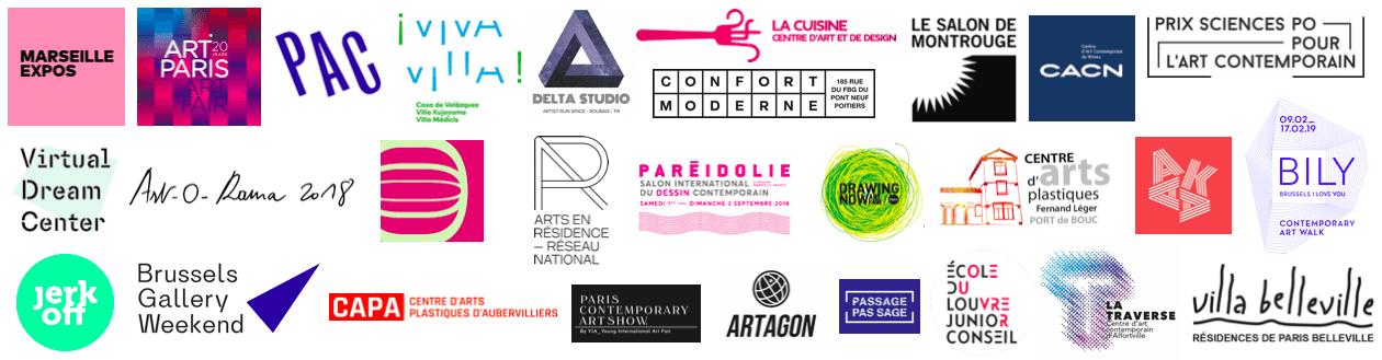 logos partenariats Point contemporain
