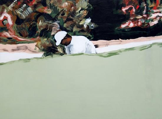 Marine Wallon, Brazzolo 2018. Huile sur toile, 90 x 120 cm