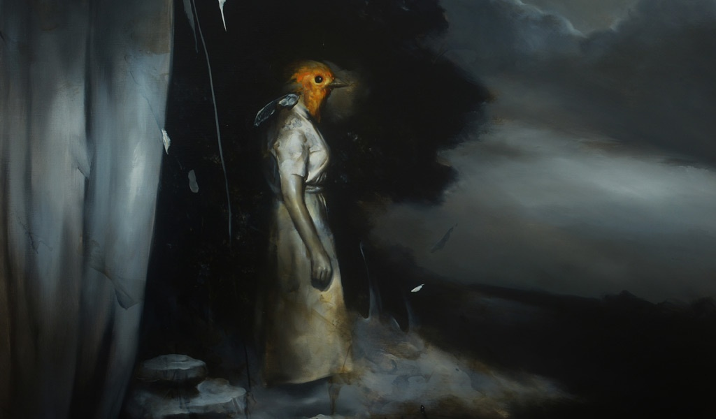 Radu Belcin, Stillness, 2018. Huile sur toile 80 x 85 cm
