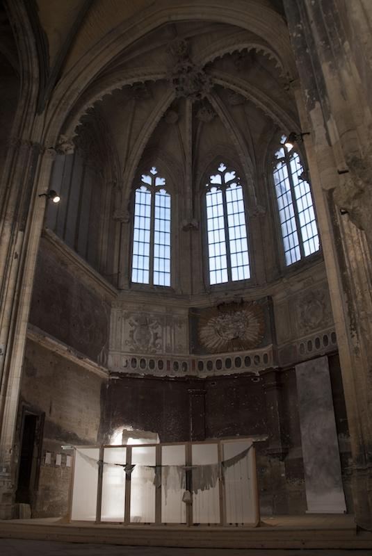 Xiao Xingui, Pauline Tralongo, vue d'exposition Derapage-Eglise des Celestins Avignon