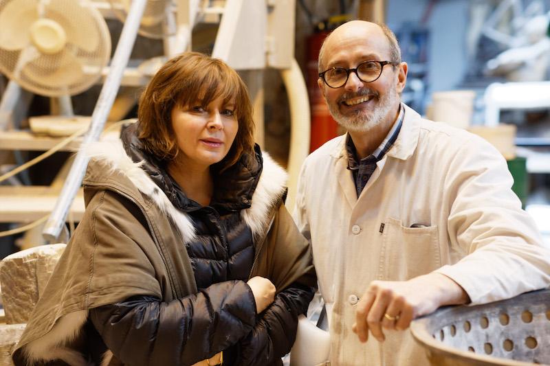 Angelika Markul et Manuel Deletre, Prix MAIF pour la sculpture à la fonderie Susse, démoulage du positif en cire.