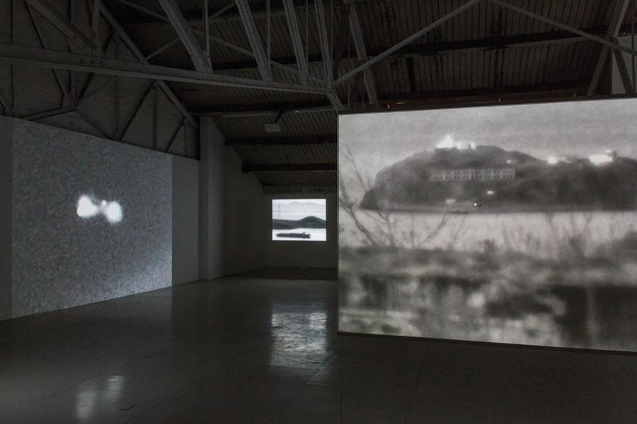 Vue de l'exposition Anne-Charlotte Finel, 3APЯ [Zarya], Ateliers Vortex Dijon PhotoCécilia Philippe / Les Ateliers Vortex