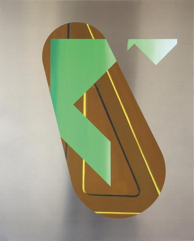 Benoît Géhanne, recul #1, 2015. Huile sur aluminium, 100 x 80 cm. Courtesy Galerie Djeziri-Bonn.
