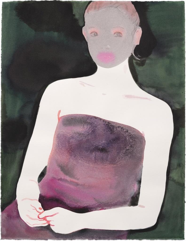 Sans titre, 2017. Lavis d'encre sur papier, 65 x 50 cm. Courtesy Semiose galerie, Paris. Photo A. Mole.