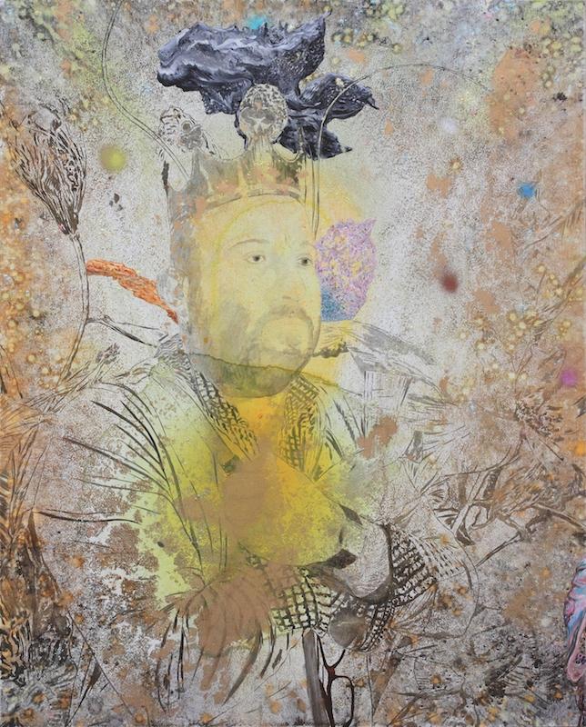 Marc Molk, Tentative immobile de régner sur la France, 2015. Huile et acrylique sur toile, 162 x 130 cm. Courtesy artiste. Photo : Lison Nissim.