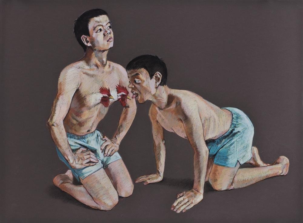 Wang Haiyang, Untitled n°25, 2011, Pastel sur papier, 55 x 75 cm