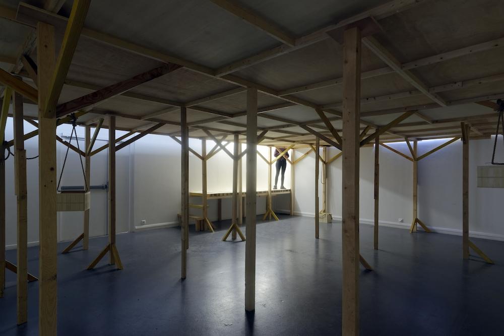 Vue de l'exposition Fusions froides de Pauline Lavogez, Galerie du Crous de Paris, septembre 2018 Photo© Aurélien Bacquet