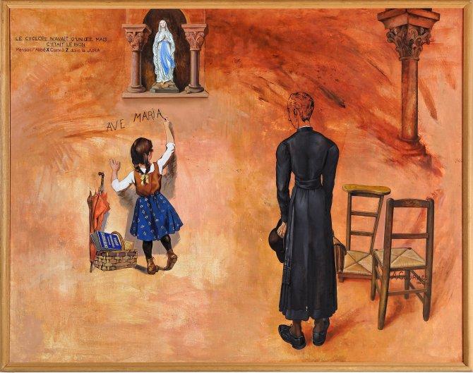 Alfred Courmes, Ave Maria, le Cyclope n'avait qu'un oeil mais c'était le bon, 1960, Collection Frac Franche-Comté © Alfred Courmes – Adagp, photo : Blaise Adilon