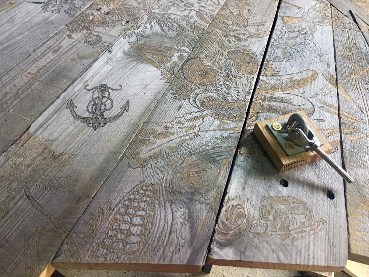 Le Râ d'Ô Jewel 2018 Détail du plancher
