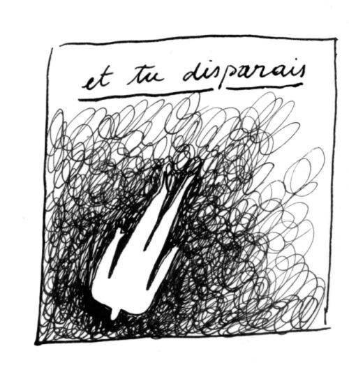 Charlotte Chauvin, Et tu disparais. Dessin sur papier. Courtesy artiste