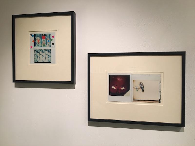 """Richard Fauguet, Ta gueule, 1996 et La Mouche, 1996.  Vue d'exposition """"Instantanée"""" du 02 au 17 novembre 2018, Galerie de la Voûte Paris"""