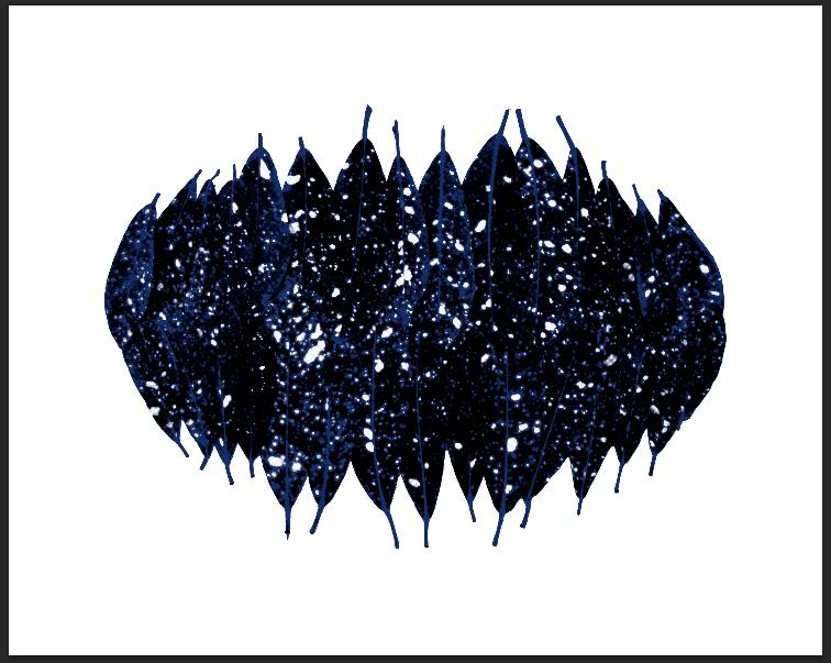 Fabien Léaustic,Cosmos doesn't care _ 2 (tirage 2/5) - 2018.Papier velin d'Arches 230gr, caisse américaine en chêne, impression jet d'encre,105 x 78 cm