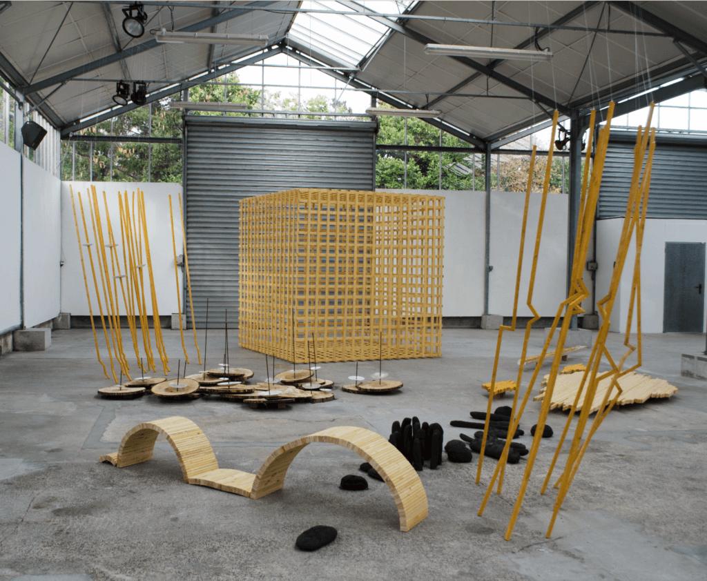 Jean Yves Vigneau, Jardin-dhiver, 2018 -résidence 55 Usine Utopik. Courtesy artiste