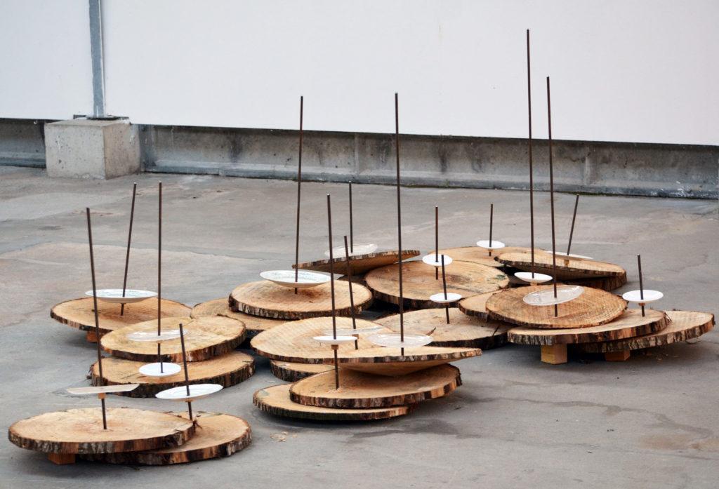 Jean Yves Vigneau, Jardin-dhiver (détails), 2018 -résidence 55 Usine Utopik. Courtesy artiste