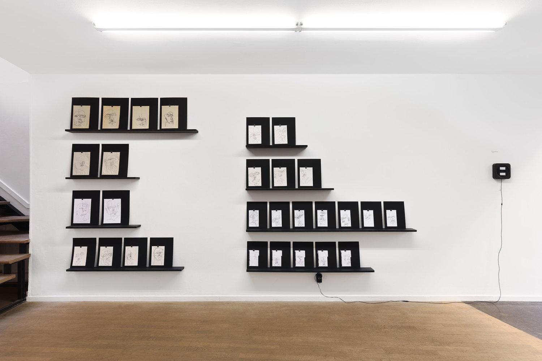 Vue de l'expositionVotre tâche est peut-être de l'écrire? deLuc Schuhmacherdu 15 novembre au 22 décembre 2018 àBackslash,Paris. Courtesy artiste et galerie Backslash