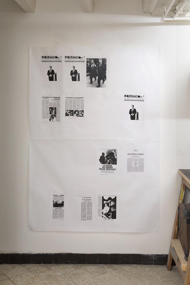 vue d'expositionRaphaël Rossi,«Art et essai et collages», du 10 au 17 novembre 2018, La vraie vie, Genève. Courtesy artiste