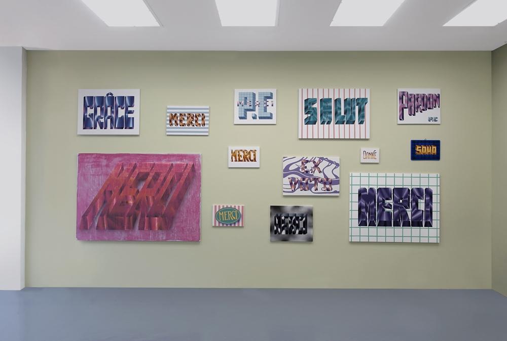 Vue d'exposition MERCI Galerie Bernard Jordan Paris - Mur Pablo Cots