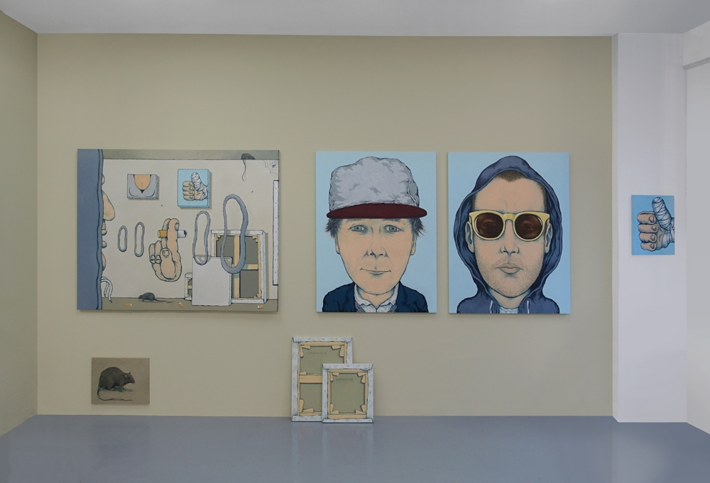 Vue d'exposition MERCI Galerie Bernard Jordan Paris - Mur Antoine Desailly