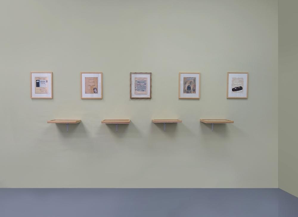 Vue d'exposition MERCI Galerie Bernard Jordan Paris - Mur Alexandre Leger