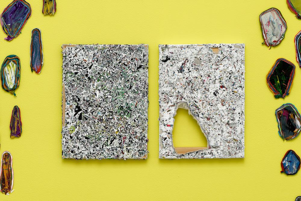 """vue d'exposition, Jacin Giordano, """"Fossil"""", Galerie Sultana Paris du 03 novembre au 22 décembre 2018. Photo Aurélien Mole"""