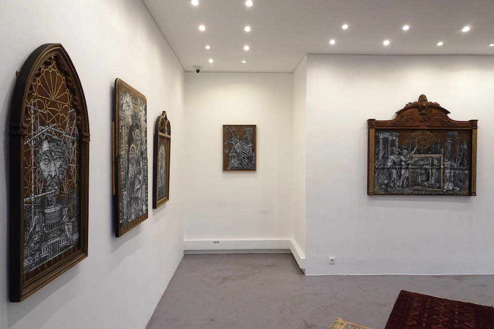 vue d'exposition Gypsothèque de Monkeybird, H Gallery Paris