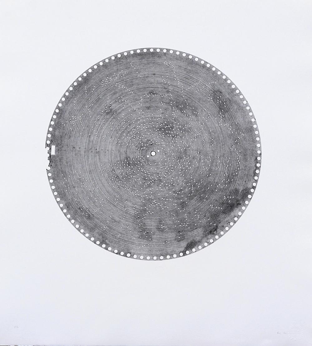 Rainier Lericolais, Estudiantina, 2018. Estampage, 66 x 60,5 cm. 10 ex. / vélin d'Arches. Courtesy artiste et URDLA