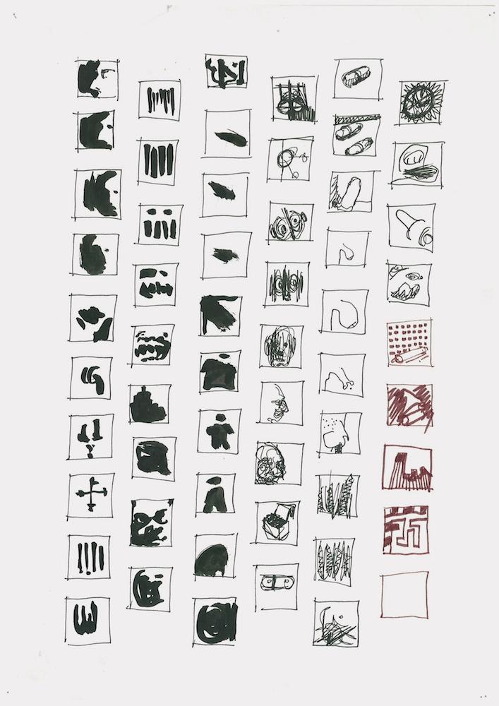 Sépànd Danesh,Encyclopédie de l'imagination, #0079, depuis 2004. Dessins à main levée sur feuille A4. Courtesy artiste et Backslash.