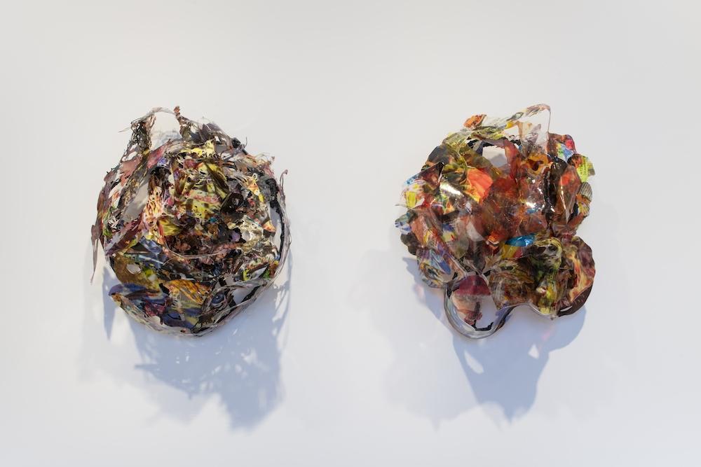 Victor Vaysse Backgrounds, 2019 Résines , transfert d'image Courtesy de l'artiste Exposition PLEIN JEU #2 - Frac Champagne-Ardenne