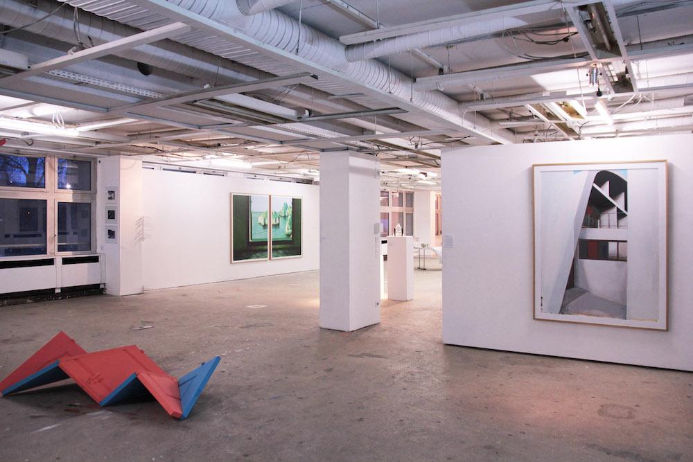 Vue de l'exposition, Mémoire d'architecture, le 6b Saint-Denis. Photo Jérémy Liron