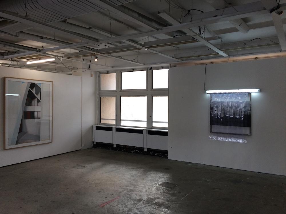 Vue de l'exposition, Mémoire d'architecture, le 6b Saint-Denis. Photo Aurélie Barnier