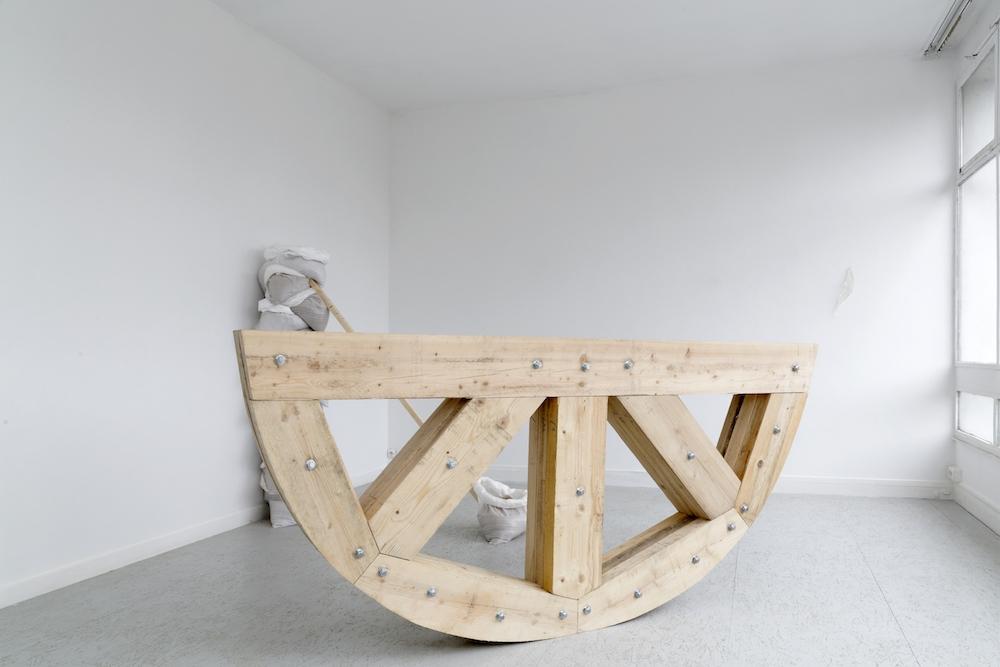 Julia Gault,Tout s'écoule, rien ne reste, 2019.Vue de l'exposition personnelle «Onde de submersion» à l'Espace d'Art Contemporain Camille Lambert de Juvisy-sur-Orge. Photo Laurent Ardhuin