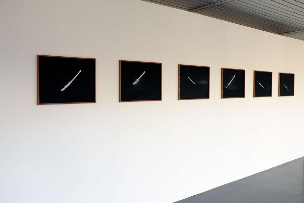 vue de l'exposition personnelle d'Harold Guérin, Strates, partitions du vide La Capsule, Centre culturel André Malraux, Le Bourget