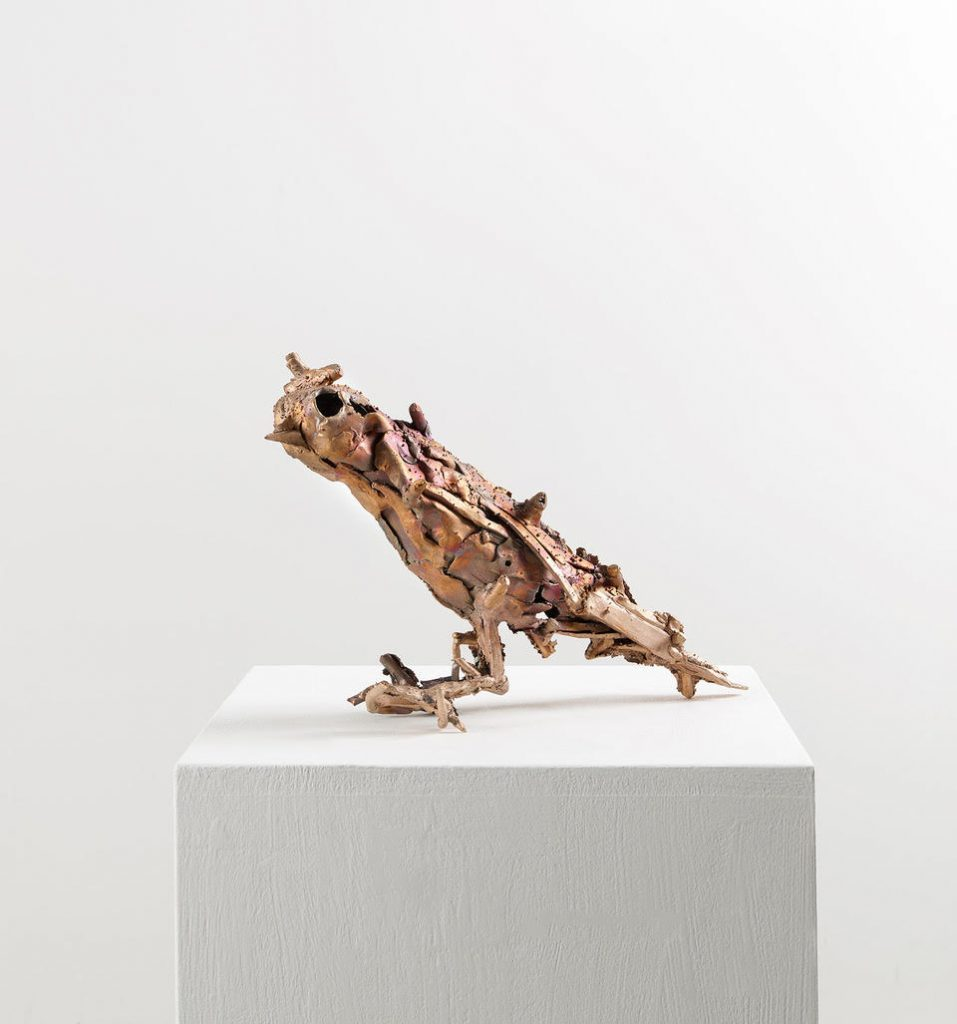 Lionel Sabatté, Volatile Hector, Bronze, 25,5 x 39 x 13 cm, 2019