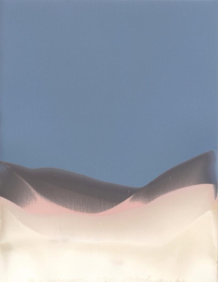 Marie Clerel, Riviera, 2019, courtesy Galerie Binome pièce unique - 20x15 cm papier argentique non révélé, partiellement fixé