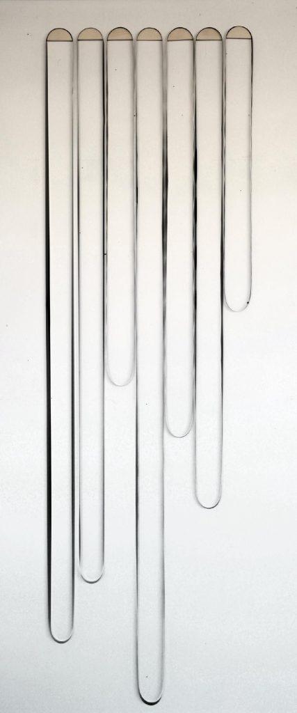 Anne-Marie Cornu Fraterie, 2017, bois, bandes magnétiques, 90 x 180 cm