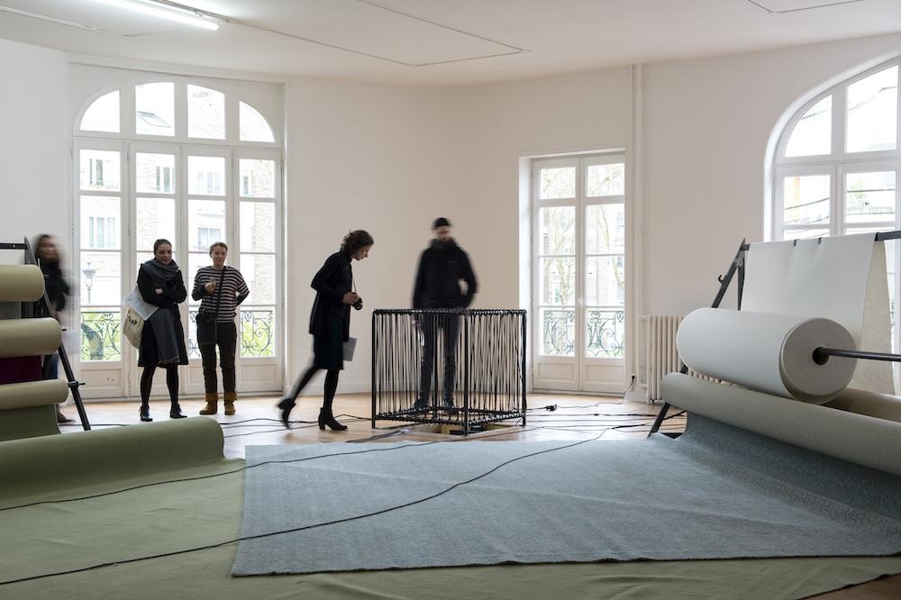 Vue d'exposition Anne Le Troter, Parler de loin ou bien se taire, du 1er février au 21 avril 2019, Le Grand Café Saint-Nazaire. Photo Marc Domage