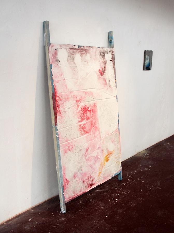 Damien Caccia, Paestrum, 2019,  Plâtre, béton, verre, bois, peinture acrylique