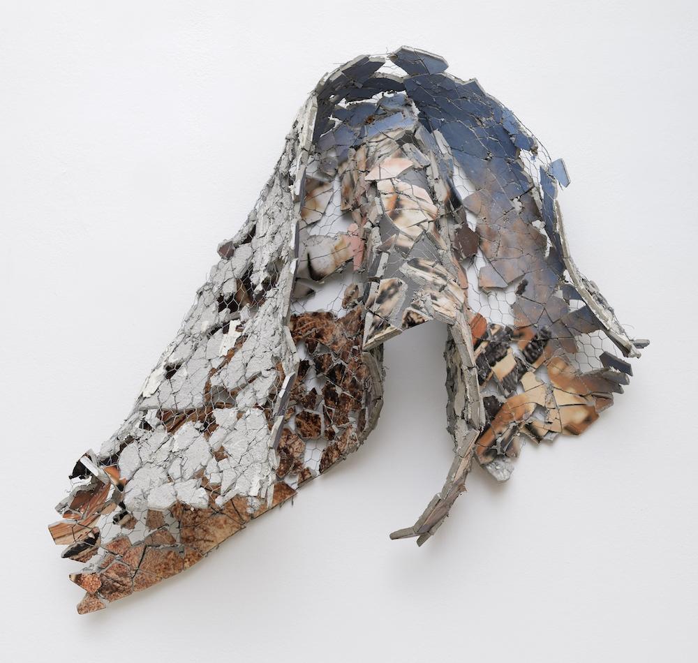 Florian Pugnaire & David Raffini - North Carolina Ave, Victorville - 2019 - Impression photographique sur ciment, grillage - 59 x 124 cm - Courtesy Ceysson & Bénétière