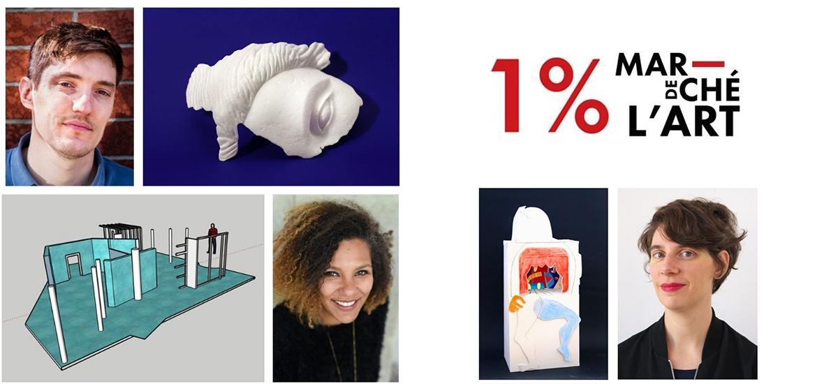 Lauréats de la première édition du « 1% marché de l'art »