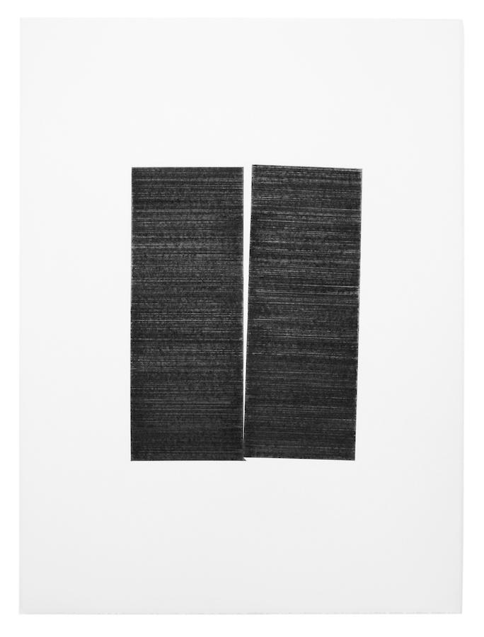 Mathieu Bonardet, dessin de projet de Disjonction III, 2019 graphite sur papier, 76 x 56 cm