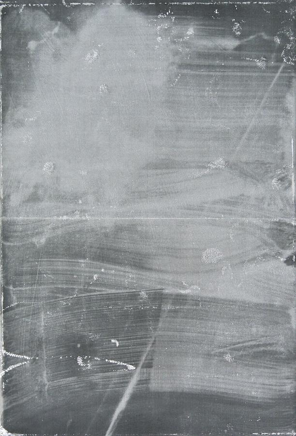 Timothée Schelstraete, Sans titre, 2018. Toner, acrylique et aérosol sur toile, 35 x 24 cm.  Courtesy artiste et Galerie Valérie Delaunay Paris